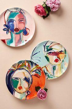 Best 12 Slide View: Belle D'Isle Dessert Plate Pottery Painting Designs, Paint Designs, Pottery Plates, Ceramic Pottery, Ceramic Painting, Ceramic Art, Ceramic Plates, Plate Art, Arte Popular