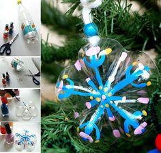 Adornos de Navidad con botellas de plástico