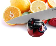 Mini knife sharpener.