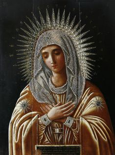 Beautiful icon of Our Lady from Russian Orthodox Religious Images, Religious Icons, Religious Art, Blessed Mother Mary, Blessed Virgin Mary, Divine Mother, Madonna Art, Religion, Images Of Mary