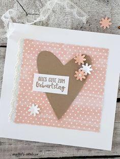 Karten Diy, Papi, Valentine Cards, Big Shot, Stamping Up, Scrap, Happy Birthday, Crafty, Lettering