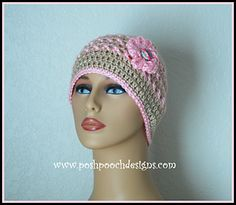 Ann's Pink Ribbon Chemo beanie hat is named in honor of my mom, who is a Breast Cancer Survivor.