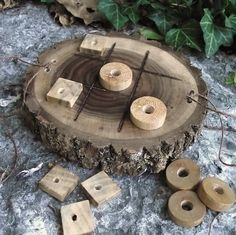 Wood Tic-Tac-Toe Game Eco-Friendly Rustic by ARemarkYouMade