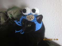Furry Cookie Crazy Monster Kitty Hat by WhimseysByAnne on Etsy