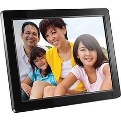 Aluratek Hi-Res Digital Photo Frame with Built-In Memory and Remote x 600 Resolution), Photo/Music/Video Support, Wall Mountable - PhotoMania - Camera, Photo & Video Experts Digital Photo Frame, Digital Image, Photo Music Video, Picture Video, Polaroid Photo Album, Picture Frames For Sale, Frame Stand, High Resolution Photos, Listening To Music