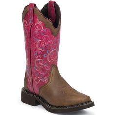 L2906 Justin Women's Gypsy Rose Western Boots - Lipstick Rose