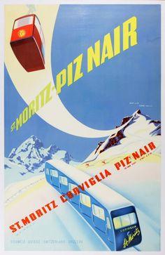 Piz Nair St. Moritz #ski #retro #vintage