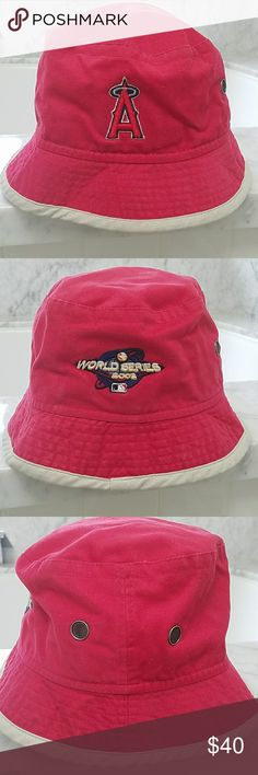 Los Angeles Angels baseball team World Series hat Los Angeles Angels baseball team 2002 World Series hat. Made by headshots a cotton medium large fisherman style hat from the 2002 World Series, worn once in mint condition. HeadShots Accessories Hats