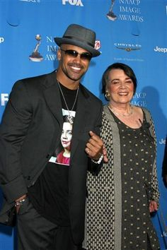 Shemar Moore and his mother, Marilyn, arrive at the 37th NAACP Image Awards at The Shrine Auditorium in LA, CA.