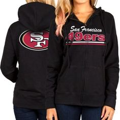 San Francisco 49ers Women's Full Zip Hoodie – Black