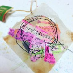 Tea bag art. Love working with tea bags
