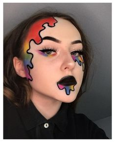 Edgy Makeup, Eye Makeup Art, Crazy Makeup, Cute Makeup, Gothic Makeup, Fairy Makeup, Mermaid Makeup, Makeup Geek, Beauty Makeup