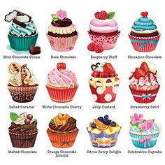 Cupcakes II, A 500 Piece Jigsaw Puzzle by Lafayette Puzzle Factory >>> Click image for more details. (This is an affiliate link) Cupcake Drawing, Cupcake Art, Cupcake Cakes, Cute Food Drawings, Kawaii Drawings, Cupcake Illustration, Cute Food Art, Coffee Cupcakes, Birthday Clipart