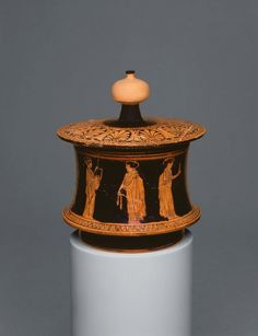 Greek, Attica Pyxis (Container for Personal Objects), 430–420 B.C.