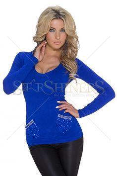 Provocative Trend Blue Sweater