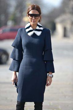 Christine Centenera in a Roksanda Ilincic dress, Louis Vuitton fur neckpiece, Gianvitto Rossi boots, Celine sunglasses and Dior Homme watch.