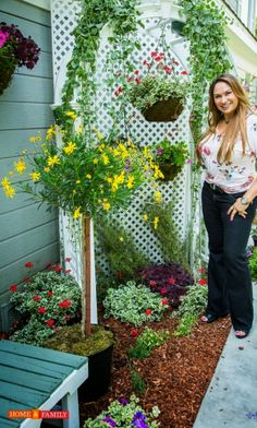 shirley-bovshow-narrow-garden-bed-makeover-with-arbor-hallmark-channel-home-and-… - Modern Home And Family Tv, Family Show, Garden Beds, Garden Art, Garden Design, Narrow Garden, Garden Makeover, Home Tv, Hallmark Channel
