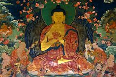 Introduction to the Four Noble Truths of Buddhism: The Buddha; painting in Potala Palace, Lhasa, Tibet.