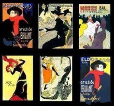 Dollhouse PICTURES~French Impressionist~TALOUSE LATREC!