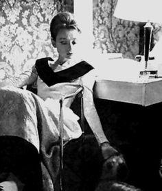 Audrey Hepburn photographed on the set of 'Paris When it Sizzles', 1963.