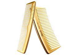 Jäneke Gold Pocket Comb, $23, and Gold Comb, $22, janeke.com.