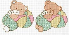 Charms en CROSS POINT: ours câlin pour broderie en point de croix