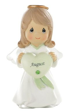 Precious Moments- August Birthday Angel - http://www.preciousmomentsfigurines.org/faith/precious-moments-august-birthday-angel/
