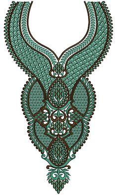 9152 Neck Embroidery Design