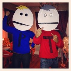 Terrance and Phillip from South Park. | 50 Couple Costume Ideas To Steal This Halloween