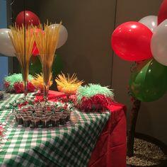 Decoração festa aniversário italiana