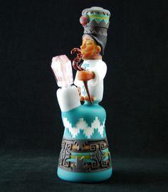 "Clinton Roman, ""little shaman"" mini vapor tube. it's a shaman smoking an effigy pipe."