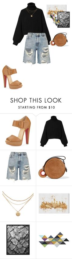 """""""🏉"""" by skandena ❤ liked on Polyvore featuring Christian Louboutin, Diesel, River Island, Carven and Oliver Gal Artist Co."""