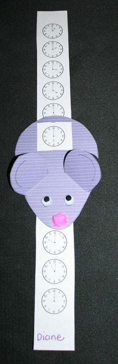 Idea para reloj en clase... así podrán ver que se acerca la hora de salir.