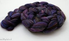 Purple Spinning Fiber Merino Shetland Bamboo Firestar