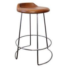 This McGuire stool will bring some serious swivel to any room.