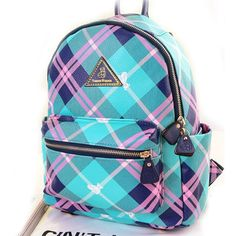 Contract Color Preppy Plaid Backpack|Fashion Backpacks - Fashion Bags - ByGoods.com
