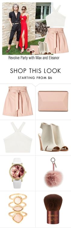 """""""Revolve Party with Max and Eleanor"""" by reasongirl ❤ liked on Polyvore featuring Miss Selfridge, MaxMara, BCBGMAXAZRIA, rag & bone, Lipsy, Fendi, Monsoon and Bourjois"""