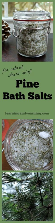 If you're looking for a way to lift your spirits, or de-stress after a long day, these pine baths salts are just what you need. And they are awesome for gift-giving, too!
