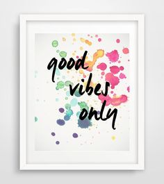 Good Vibes Only Printable Wall Art Typography by PaperStormPrints