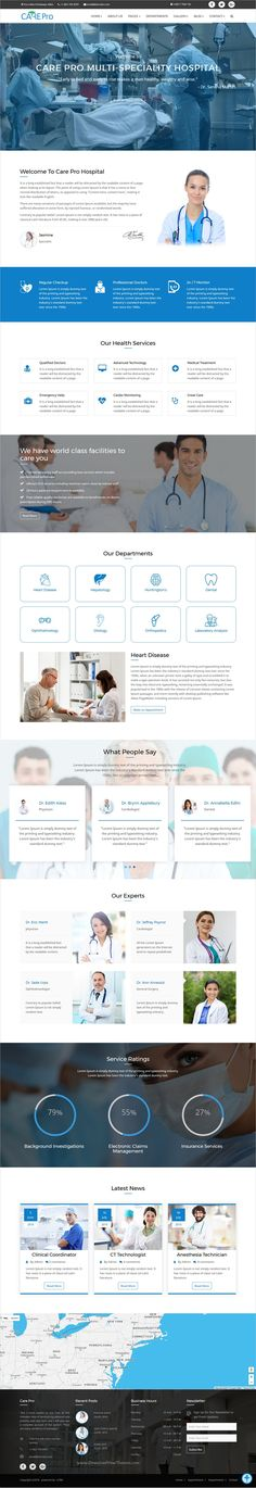 Care pro is a modern design responsive #HTML Bootstrap theme for #webdesign #medical, small clinics like Gynecology, Cardiology, dental hospitals website with 6 different homepage layouts download now➩ https://themeforest.net/item/care-pro-medical-template/19253365?ref=Datasata