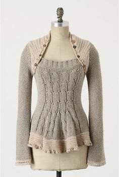 Anthro inspired sweater redo: buttons make it pretty