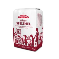 Møllerens Speltmel flour packaging emballasje GRID design Kate Forrester Illustration