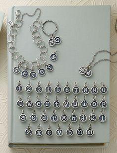 Vintage Type Charms #JamesAvery