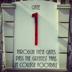 Though these gates... Nebraska Huskers