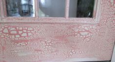 crackle faux finish on front door