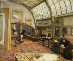 El artista en su estudio de Berlín (1902) Max Liebermann