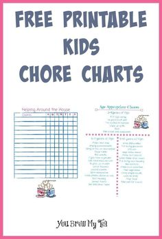 Keep the kids busy this summer with our easy to use Printable Kids Chore Charts!  Tons of practical ideas for kids daily chores!