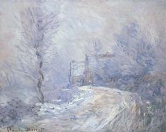 Giverny sous la neige, 1886 by C. Monet