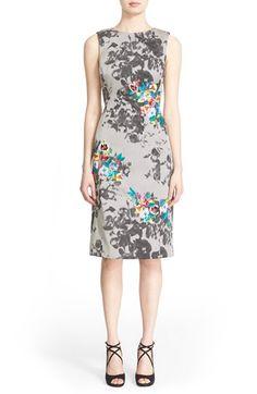 Oscar de la Renta Floral Embellished Print Sheath Dress $3,173.98  #BestPrice…