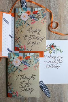 Pretty Printable Floral Greetings Cards